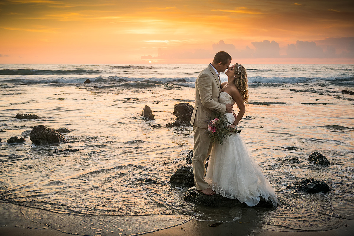 epic california beach elopement