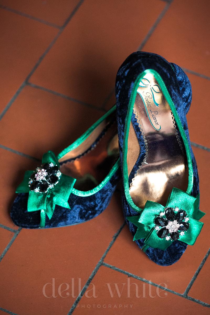 Mardi Gras bridal shoes