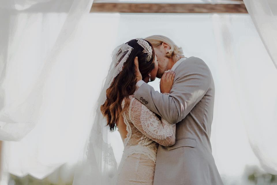 Bride groom Bel Air Bay Club Malibu