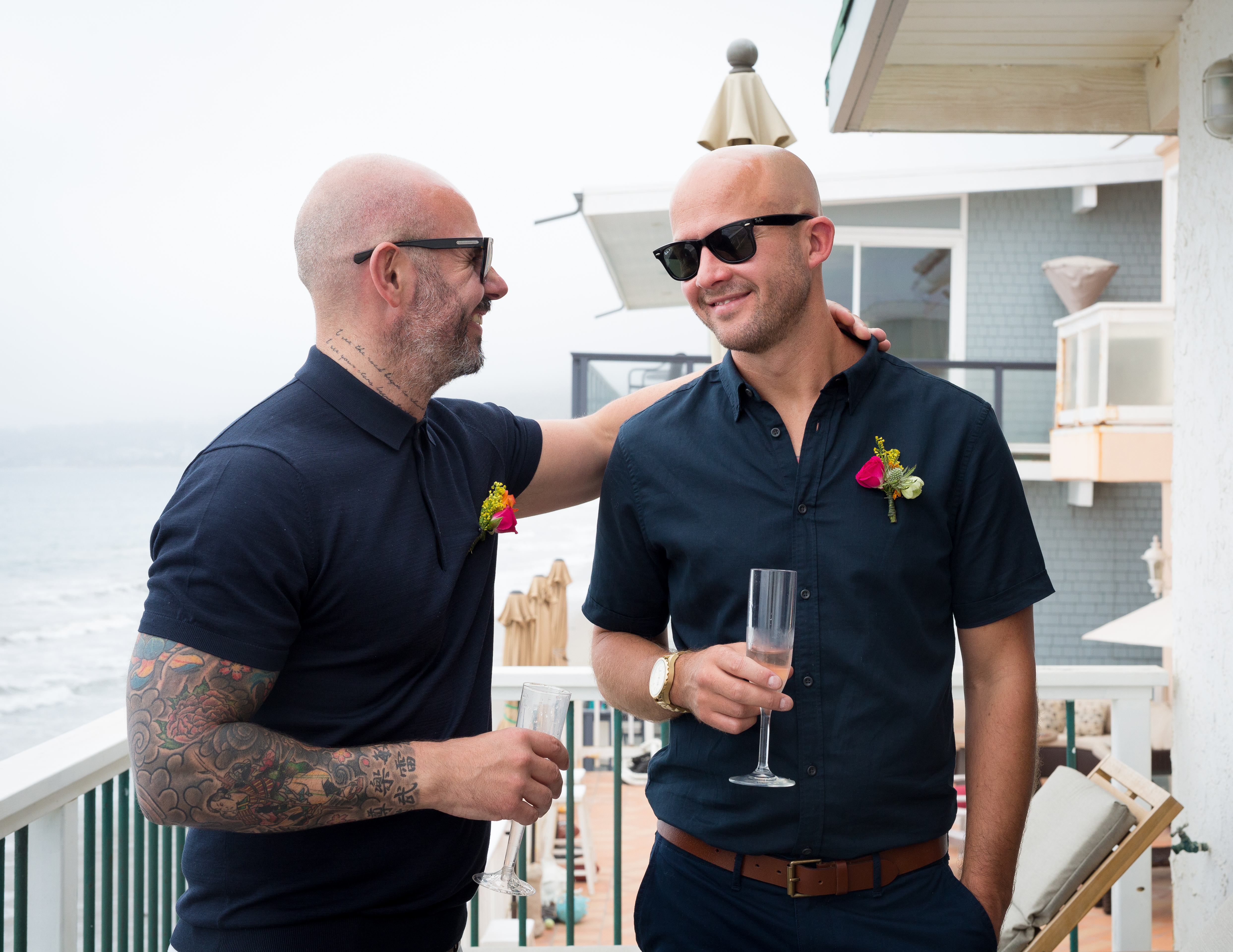 Gay elope in LA Malibu wedding officiant