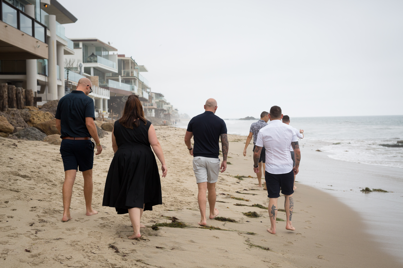 LA beach elopement