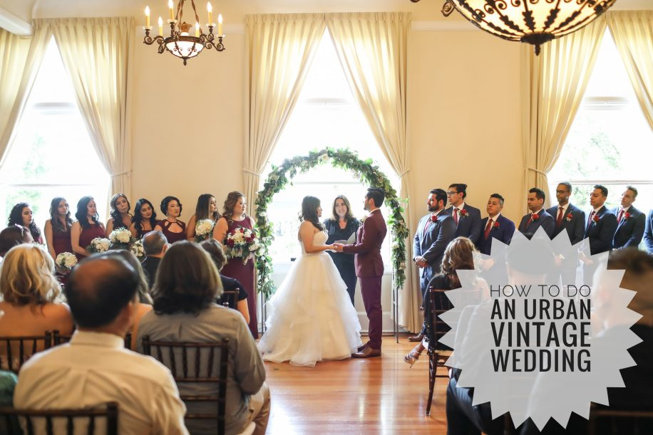 How to Do an Urban Vintage Wedding at The Speakeasy on State with Let's Get Married by Marie and Christina Sanchez Photography